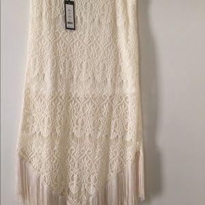 Romeo and Juliet fringe skirt with lining